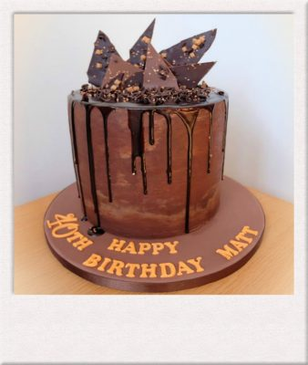 Chocolate drip cake for 40th birthday All Things Cake Epsom