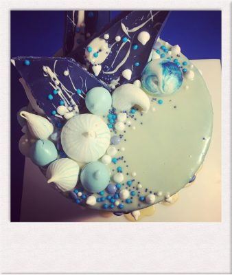 Celebration Cake - sea theme decoration - All Things Cake - Cake Baker Epsom