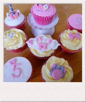 Unicorn cup cakes made by All Things Cake Epsom