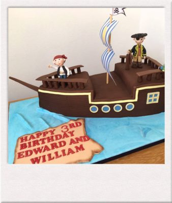 Children's pirate birthday cake made by All Things Cake