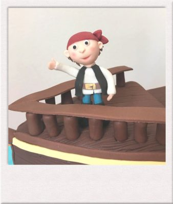 Pirate made out of icing by All Things Cake Epsom