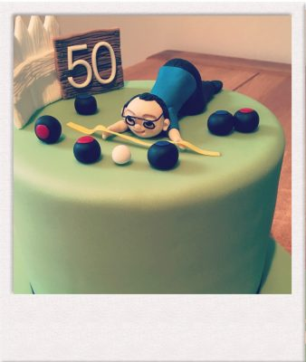 50th Birthday Celebration Cake - All Things Cake - Epsom Baker