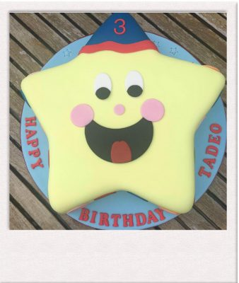 Celebration cake - star theme cake - All Things Cake - Baker Epsom