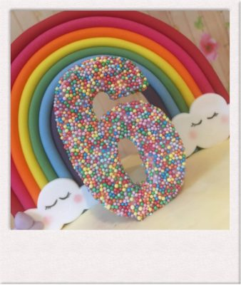 Rainbow celebration cake - All Things Cake - Epsom Cake Maker