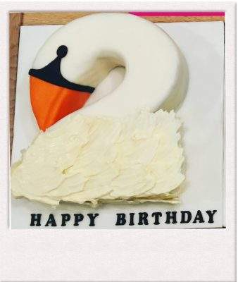 Swan shaped cake - All Things Cake - Epsom Cake Maker
